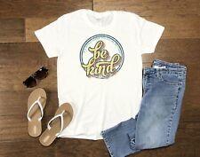 Women's Retro Be Kind Tee Shirt Tank T-Shirt New Top Ladies Plus Size Clothing