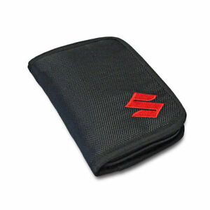 NEW Genuine Suzuki Textile WALLET Embroidered Zip Card Compartments 990F0-MWAL2