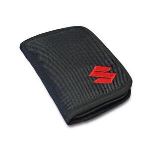 NEW Genuine Suzuki Textile WALLET Embroidered Zip Card Compartments 990F0-MWAL2