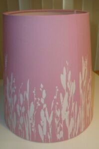 "Ikea Pink White Lamp Shade Height 9 3/8 "" (24 1/2 cm) Light Shade Display model"
