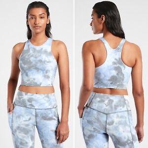 Athleta Conscious Textured Crop XL D-DD Spray Dye Merri Perri Metropolis Grey