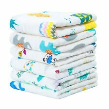 """NTBAY 6 Layer Muslin Cotton Baby Washcloths Set of 6 Extra Soft 10""""x10"""" Towels"""