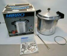 VINTAGE MIRRO 22QT PRESSURE COOKER PRESSURE CANNER + ORIGINAL BOX COOK BOOK & MO