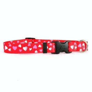 NEW Red Dog and Cat Collar in Valentines Hearts by Yellow Dog Design