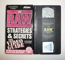 WWF RAW Strategies and Secrets The Video Guide VHS Tape SNES Sega Game Wrestling