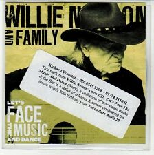 (EN669) Willie Nelson And Family, Let's Face The Music And Dance - 2013 DJ CD