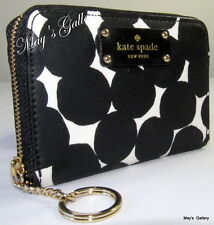 Kate Spade small  Wallet Credit Card holder coin Gusset Key Chain Zip around