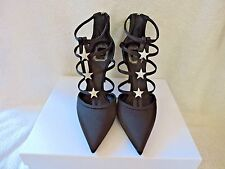 NIB $1240 CHRISTIAN DIOR BLACK SATIN STAR GALAXY GEM GLADIATOR CAGE PUMP 39