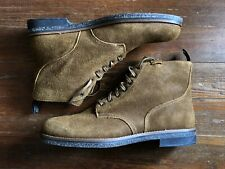 Polo Ralph Lauren Men's Casual Roughout Army Service Boots - WW2 Brown - Size 15
