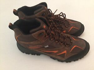 Merrell Mens Sz 14 Phoenix Bluff J35621 Hiking Boots Brown Suede Shoes
