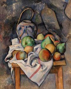Ginger Jar by Paul Cézanne 60cm x 48cm Art Paper Print