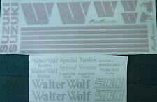 SUZUKI RG500 WALTER WOLF FULL PAINTWORK DECAL KIT