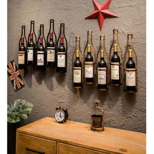 Weinregal Flaschenregal hängen Flaschenständer Metall Wandregal für 5 Flaschen