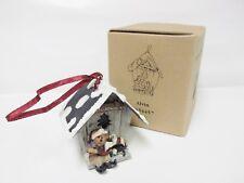 "Boyd's #654457 ""Alvin.The Elfbeary Workshop"" Birdhouse Ornament - Nib"