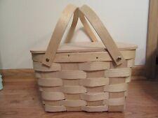 Peterboro Picnic Basket w/Plastic Utensils,Avon,Service for 4,Never used,box