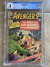 Avengers #3 CGC 0.5 1st Hulk / Sub-Mariner Team-Up! 1964 Missing Back Cover