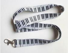 10pcs Piano keys Key black lanyard Mobile Neck Strap ID Holders Wholesale