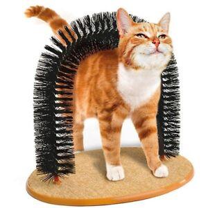 Pet Cat Scratches Hair Brush Pet Cat Arch Hair Grooming Scratcher Toy Scratching