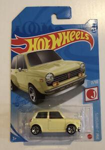 2021 HOT WHEELS #187 - Custom '70 Honda N600 (Yellow - Case K Long Card) New