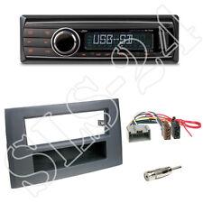 Caliber RMD212 Autoradio + Volvo XC90 1-DIN Blende anthrazit + ISO-Adapter