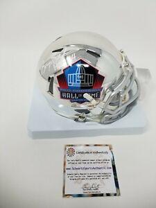Barry Sanders HALL OF FAME Signed Autographed CHROME Mini Helmet HOF 04 SS RARE