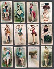 1888 C152 Ritchie Actresses Tobacco Cards Lot of 12