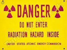 "DANGER DO NOT ENTER RADIATION HAZARD 9"" X 12"" METAL SIGN"