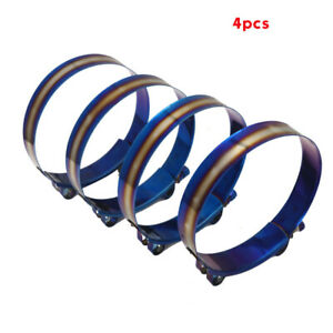 """4 PCS 301 Stainless Steel TBolt Clamp 90mm - 98m For 3.54"""" - 3.85"""" Silicone Hose"""