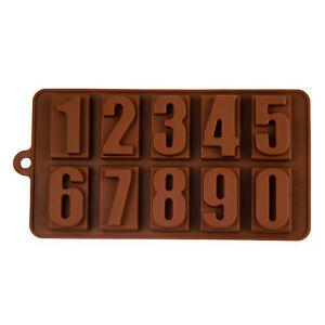 Silikonform mit Zahlen von 0-9, Schokolade, Eiswürfel, Praline, Backen, Naschen