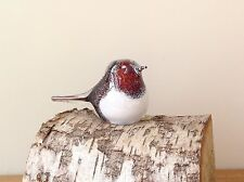 GLASS  ROBIN ORNAMENT Paperweight Sculpture Country Gift