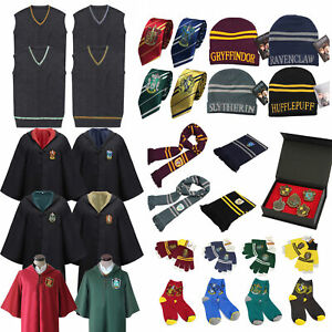 Hogwarts Harry Potter Cloak Vest Tie Scarf Robe Fancy Costume Cosplay Adult Kids