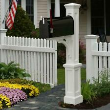 newport plus plastic mailbox post, white | mayne only style classic vinyl fade