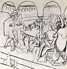 "Original 1955 Picasso Vintage Print The Ballet ""Le Tricorne"" Book Plate"
