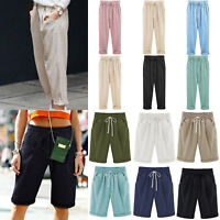 Women Elastic High Waist Baggy Summer Harem Pants Casual Trousers Plus Size Hot