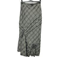 Womens Thick Winter Maxi Warm Tweed Lined Maxi Long Skirt Gypsy Size 8 10 12 14