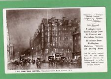 Grafton Hotel Tottenham Court Rd London Advert RP pc used 1928 Ref F560