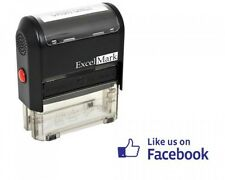 ExcelMark Self Inking Like Us On Facebook Stamp Blue Ink, New, Free Shipping