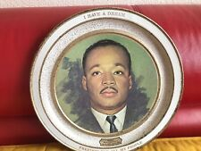 """Antique Wall Art Plate Martin Luther King """"I Have A Dream-Freedom For My People�"""
