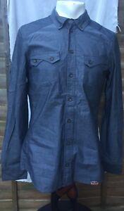 """Urban Surface "" HERITAGE Clothing Long Sleeve Shirt Mens Size -M, Grey Chest 42"
