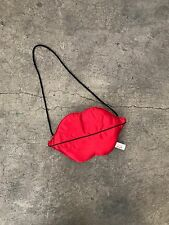 Vintage 1990s LIPS shaped PURSE Cute Bag Red Nastygal Hipster Boho Goth Grunge
