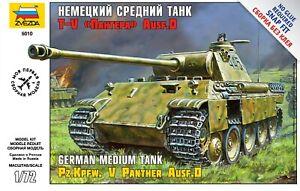 Zvezda Model Kit 5010 German Medium Tank Panther Ausf.D, scale 1/72