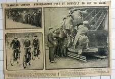 1915 Difficulties Getting To Work, No Trams In The City Of London Tram Strike