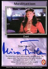 Babylon 5 Ccg Mira Furlan Deluxe Edition Meditation Autographed