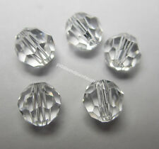 5 New Genuine Swarovski Crystal Round Faceted Beads 6mm for Jewellery Craft