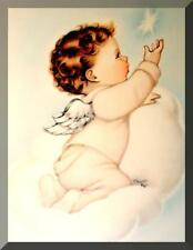 STARLING BABY ANGEL Charlot Byj (VINTAGE) ORIGINAL VICTORIAN PRINT FREE SHIPPING