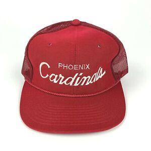 VTG SPORTS SPECIALTIES Phoenix Cardinals Script Logo Hat Snapback Cap Mesh RARE