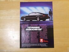 DODGE DAYTONA TURBO Z  POSTER ADVERT READY FRAME A4 SIZE