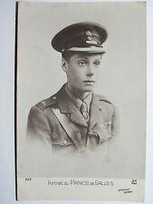 CPA CARTE POSTALE PORTRAIT DU PRINCE DE GALLES OFFICIER ANGLAIS 14/18 WWI