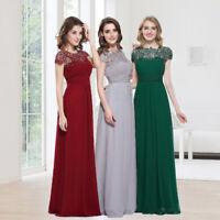 Ever-Pretty Long Bridesmaid Dresses Lace Bead Maxi Formal Evening Dresses 09993