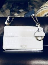Oroton Crossbody Mini Purse BRAND NEW White Leather Bag Charm Chain Strap